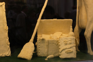 OK, a broom made out of butter is apparently a thing, but buttering your broom is not, trust me.