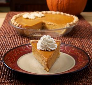 Maple-Bourbon Pumpkin Pie